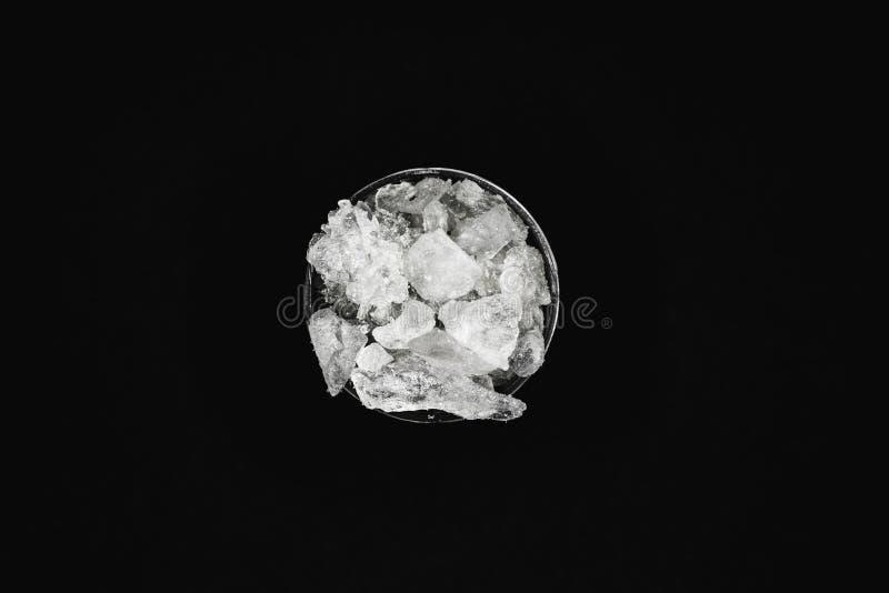 MDMA, het belangrijkste bestanddeel van ecstasy-pillen in zuivere vorm royalty-vrije stock foto's