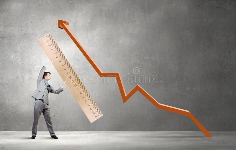 Meça seu sucesso imagem de stock royalty free