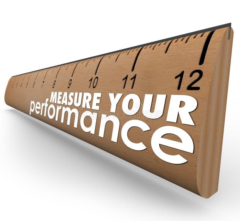 Meça sua revisão da avaliação da régua das palavras do desempenho ilustração stock