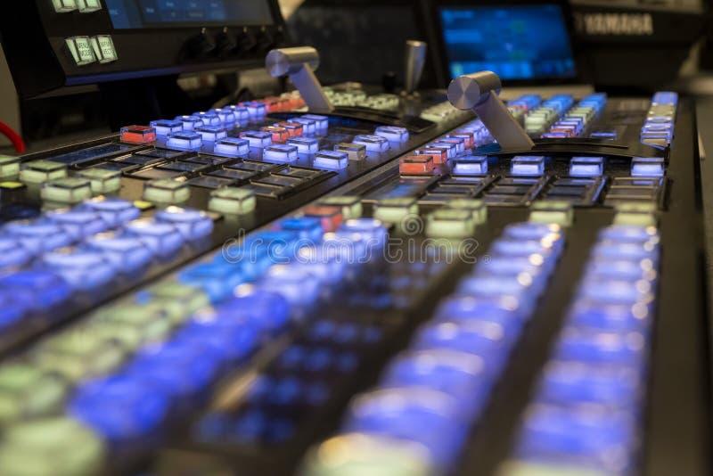 ME2 Żyją Switcher Wideo melanżer dla przedstawień i telewizji obrazy royalty free