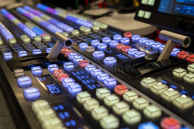 ME2活展示和电视的调转工录影搅拌器 图库摄影