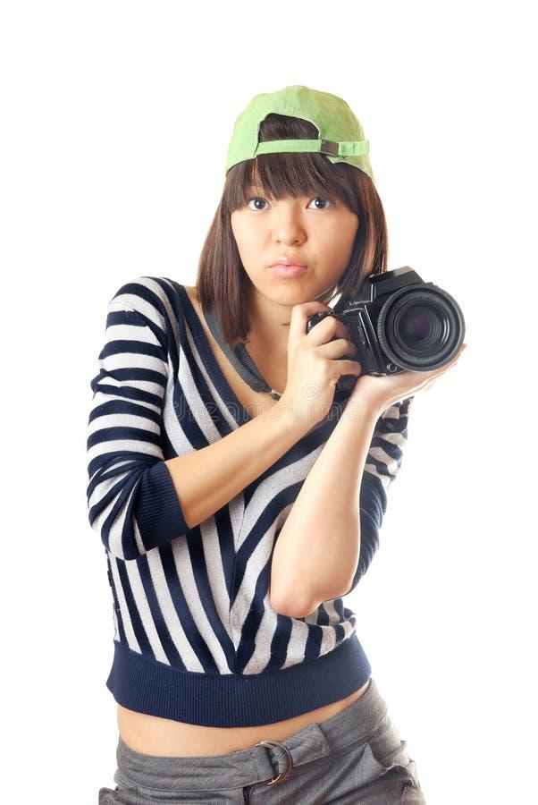 Me en mijn camera royalty-vrije stock fotografie