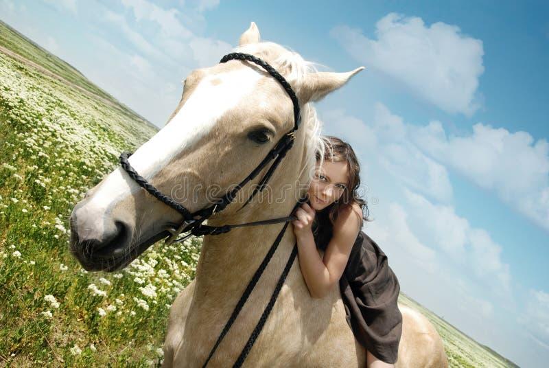 Me en mijn paard royalty-vrije stock fotografie