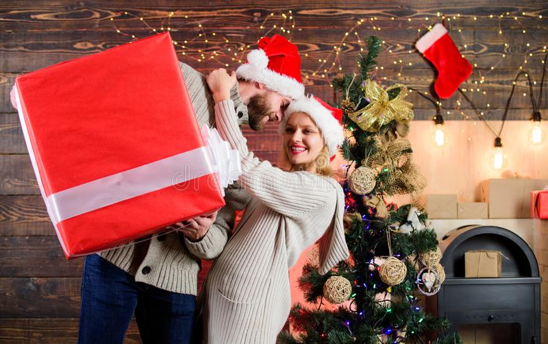 Is it for me. happy new year. Santa gift delivery. family christmas party. winter season sales. greeting time. Huge royalty free stock image