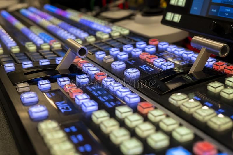 ME2 Live Switcher Video Mixer para mostras e televisão fotografia de stock