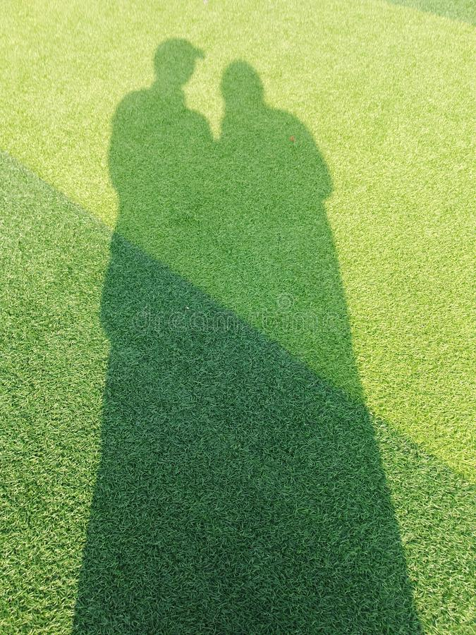 Me and my beloved wife shadow stock images