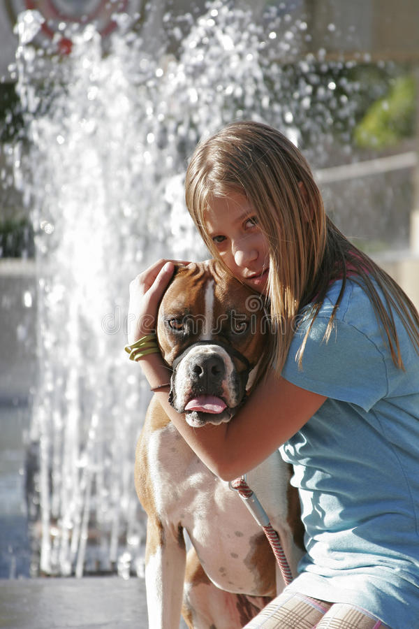 Download Me And My Boxer Royalty Free Stock Image - Image: 9547426