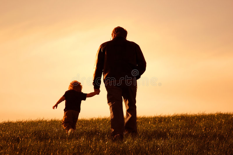 Me and my Dad royalty free stock photo