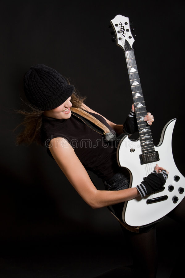 Download Me and my guitar stock photo. Image of singing, girl, female - 5531318