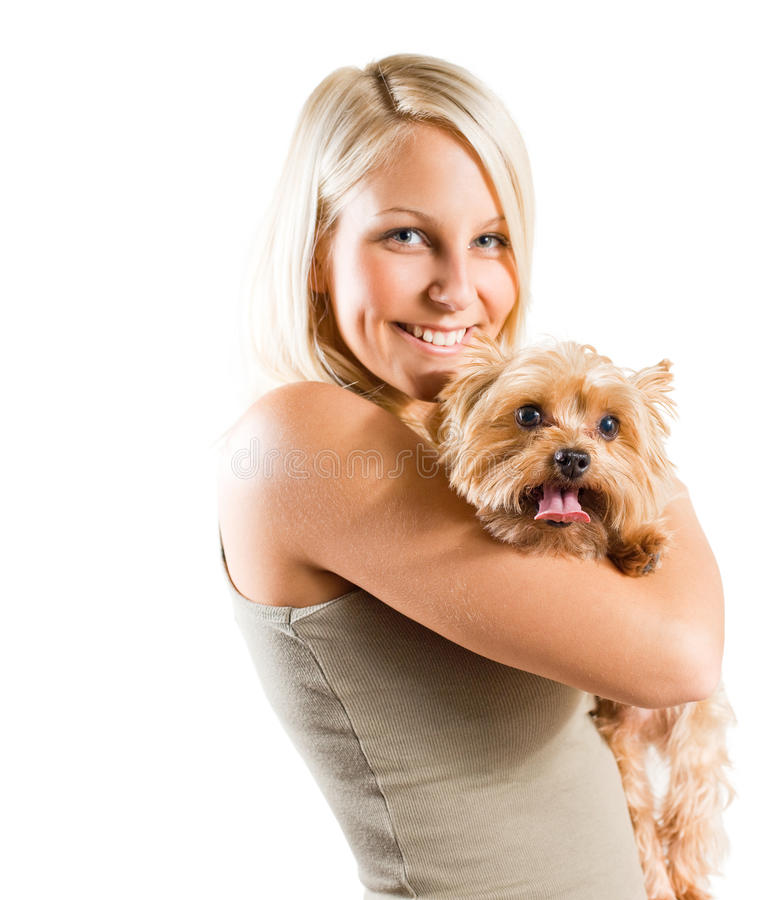 Download Me and my pet. stock photo. Image of brown, white, camera - 22137592