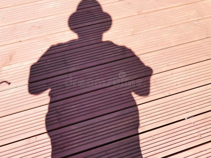 Me and my shadow royalty free stock photography