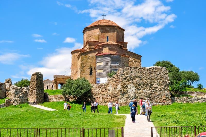 6?me si?cle antique de monast?re de Jvari dans Mtskheta, la G?orgie photos libres de droits