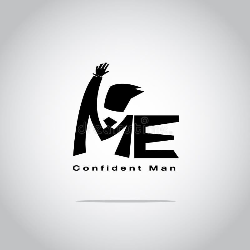 `Me` typographic or logotype. confident man concept - vector. Illustration stock illustration