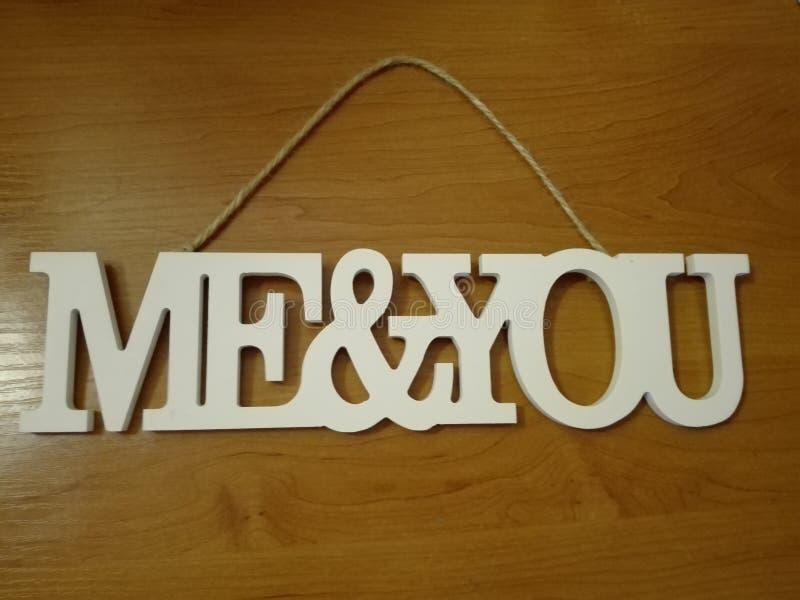 Me&you fotografia stock