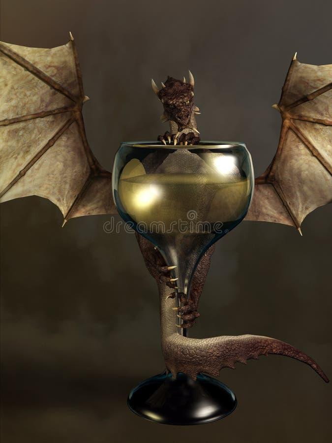 Mead Dragon royalty illustrazione gratis