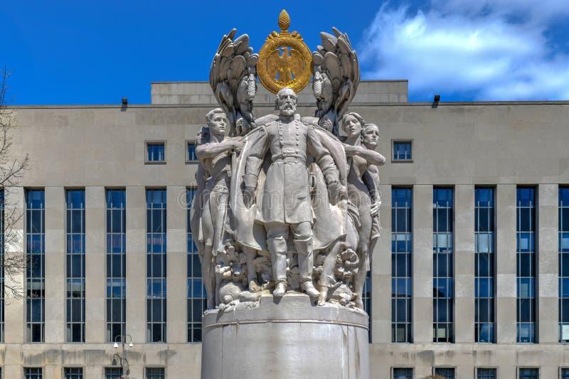 Meade Statue - Washington, DC arkivfoton
