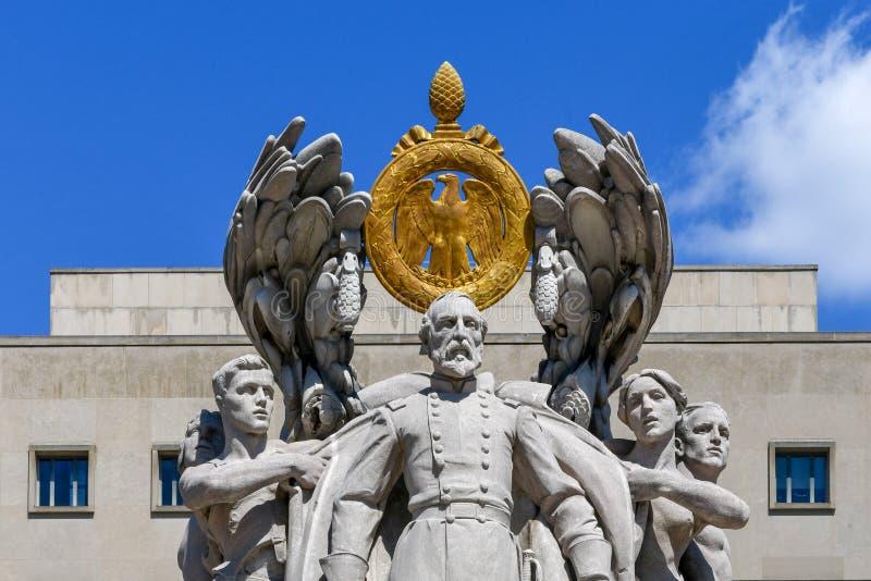 Meade Statue - Washington, DC arkivfoto