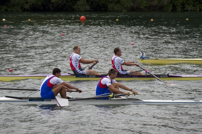 Meadlists in Men's Pair, European Rowing Chamionships 2014 stock photos