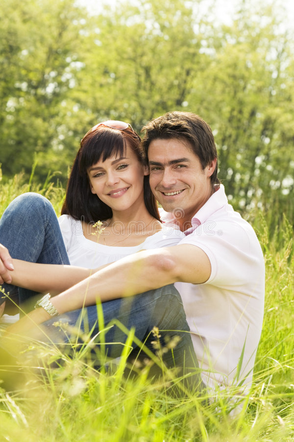 Download Meadow stock image. Image of hugging, head, caucasian - 5209397