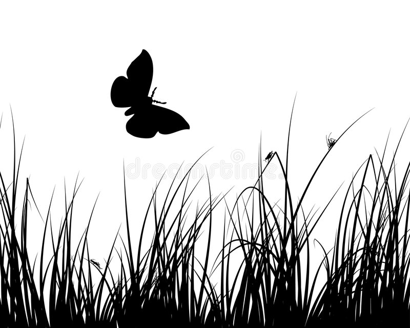 Meadow background stock illustration