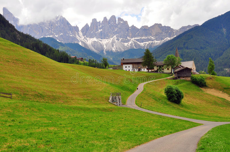 Download Meadow in Dolomites, Italy stock photo. Image of summer - 41762258