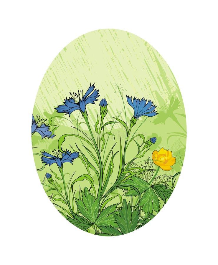 Download Meadow flowers stock vector. Image of stem, leaf, outline - 31787741
