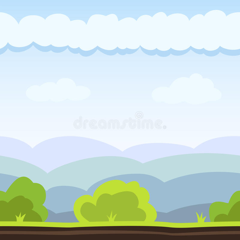 Meadow Game Background stock illustration