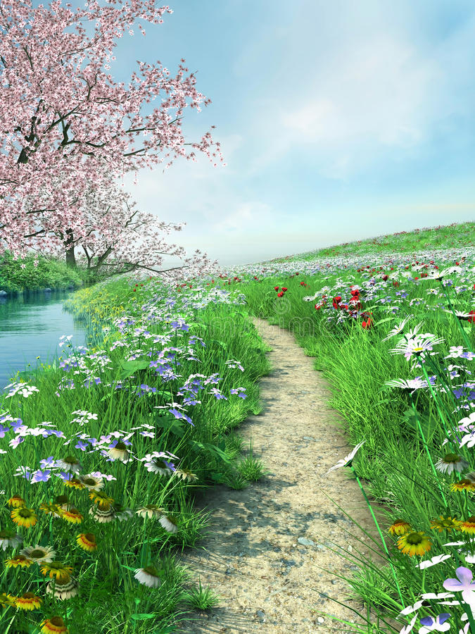 Meadow path royalty free illustration