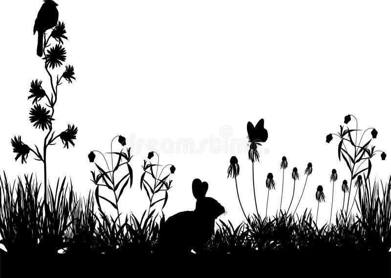 Meadow_scene illustration stock