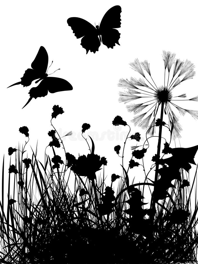 Meadow Silhouette Stock Images