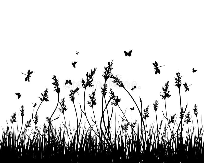 Meadow Silhouettes Stock Photo