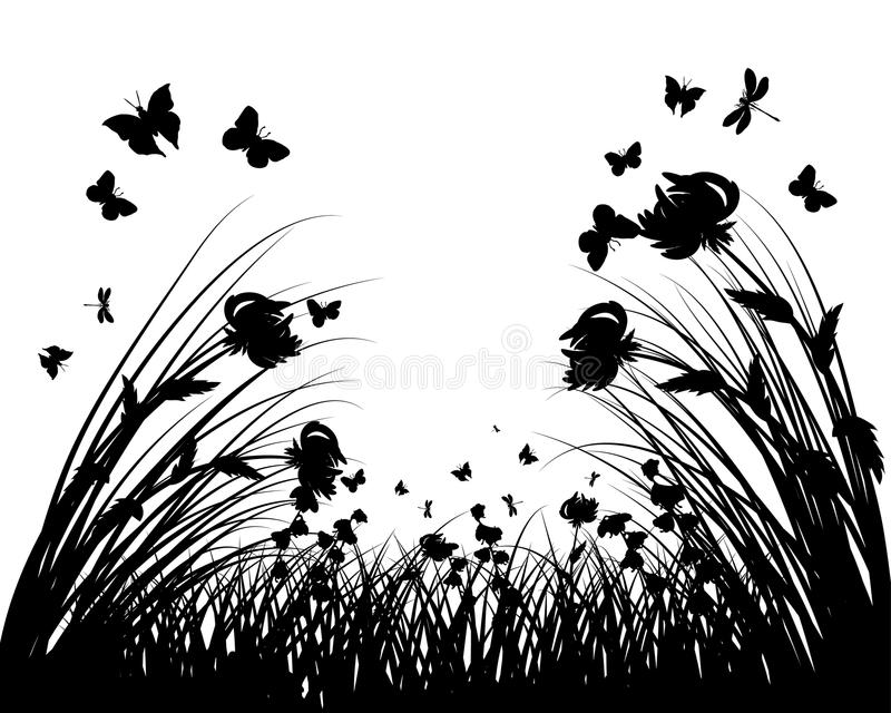Download Meadow silhouettes stock vector. Image of frames, fields - 11594297