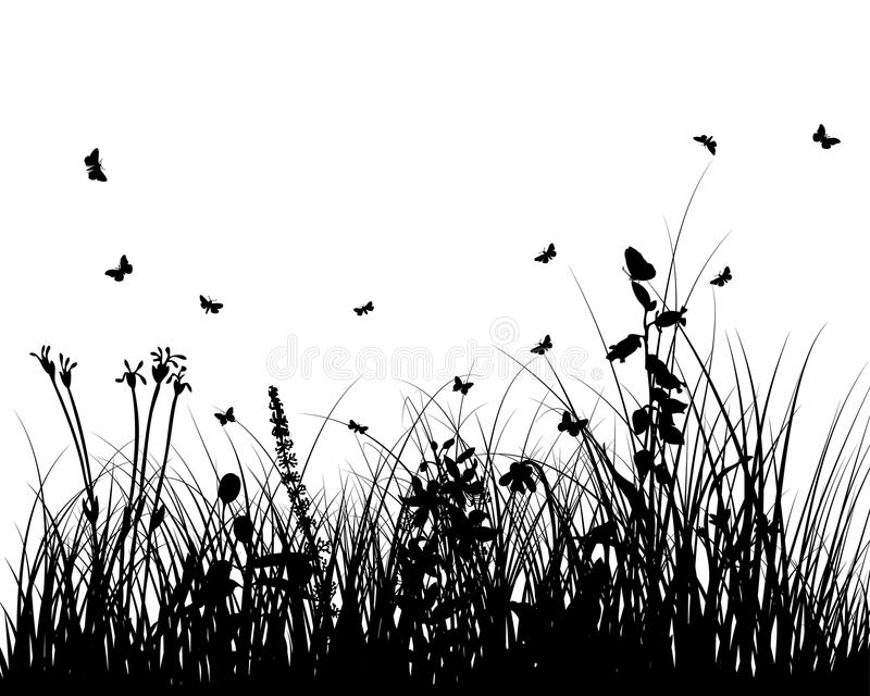 Meadow Silhouettes Stock Photos