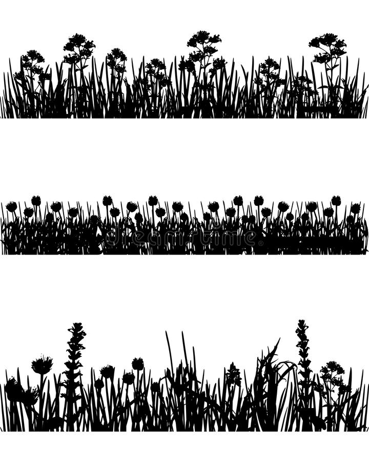 Download Meadow silhouettes stock vector. Image of vector, nature - 24559803