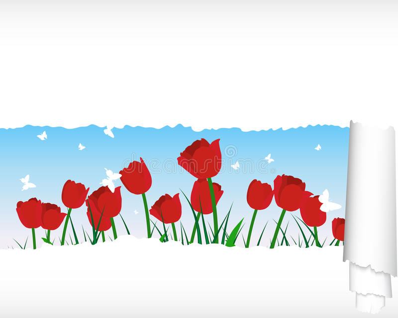 Download Meadow Silhouettes With Ripped Stripe Stock Vector - Image: 24367861