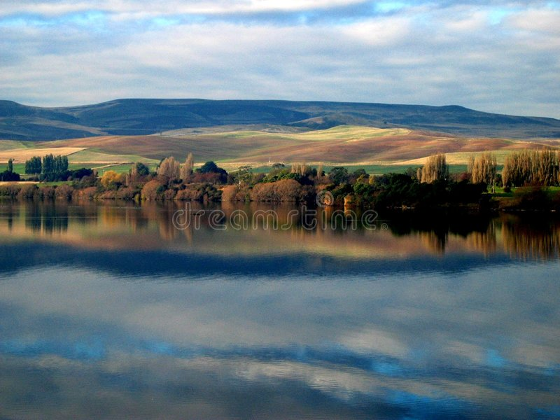 Download Meadowbank Lake Painted stock image. Image of scenery - 1769533