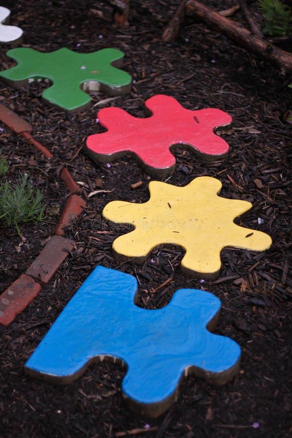 meadowlark ботанических садов соединяет головоломку стоковые фото
