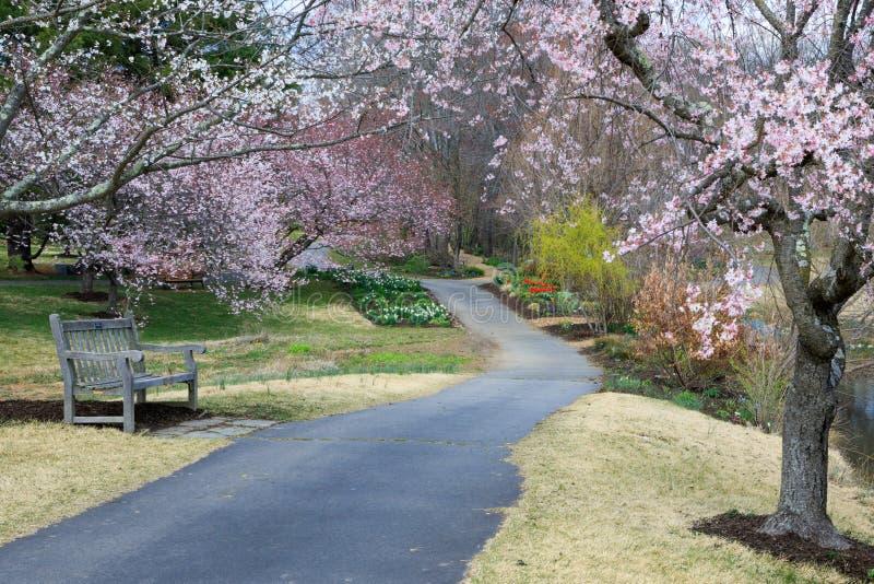 Meadowlark Regional Park Garden Pathway Virginia lizenzfreies stockfoto