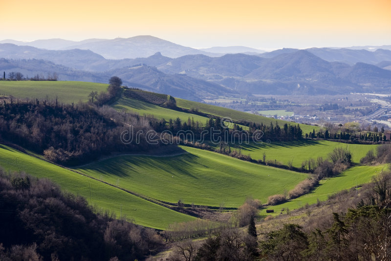 Download Meadows stock image. Image of landscape, italy, hills - 4491399