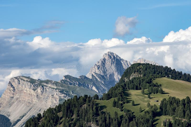Scenic view Dolomites Alpe di Siusi, South Tyrol royalty free stock image