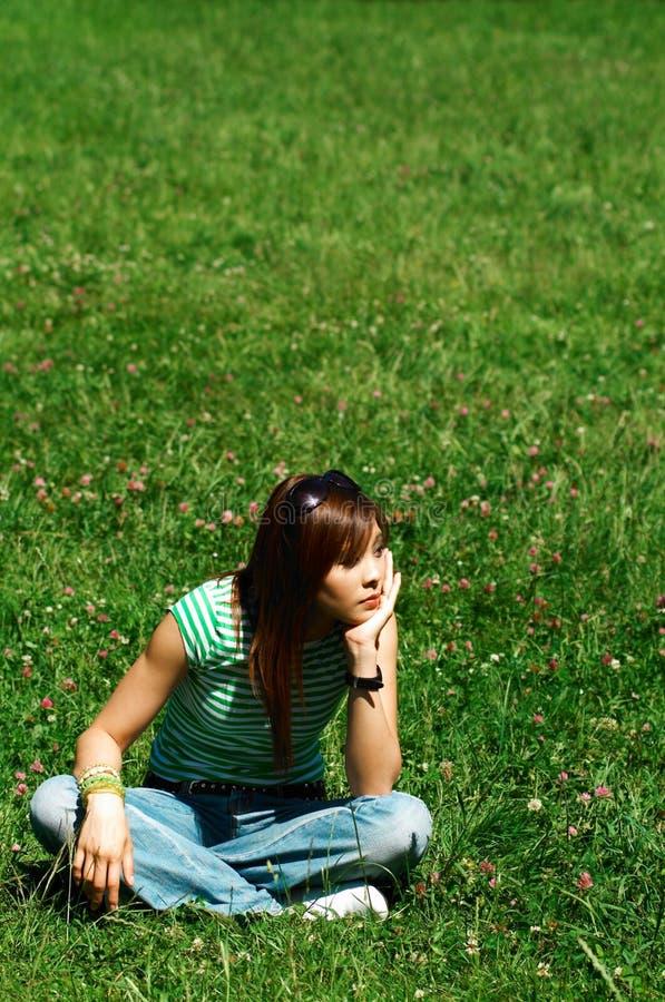meadows dziewczyn. fotografia royalty free