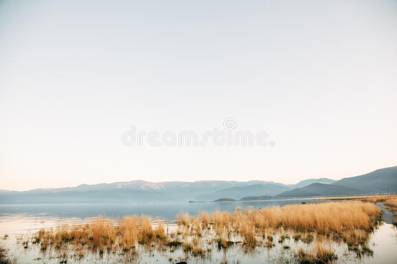 Meadows on Olkhon. Island on Lake Baikal royalty free stock photo