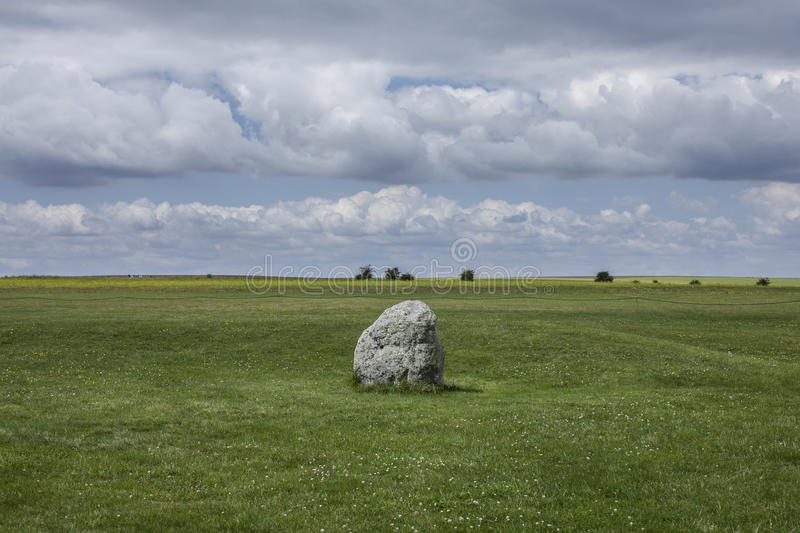 Meadows - Salisbury plain/the rock. This image shows some green meadows across the Salisbury plain in England stock images