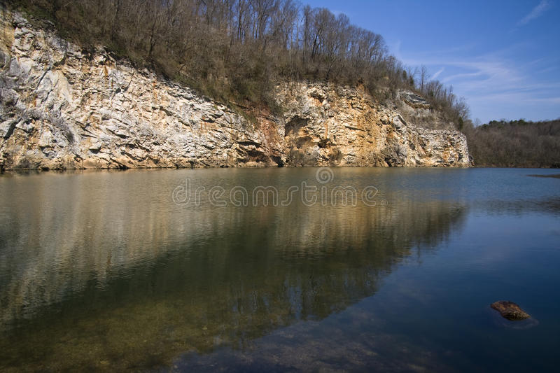 Meads Quarry. Mead's Quarry, an abandoned marble quarry in Knoxville, Tennessee stock images
