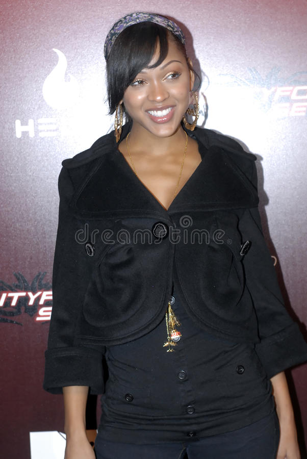 Meagan Good on the red carpet. royalty free stock photography