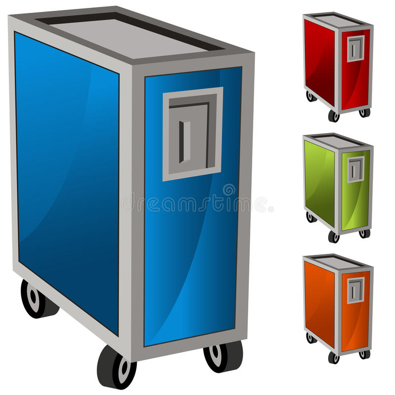 Download Meal Delivery Cart Set Stock Images - Image: 24715134