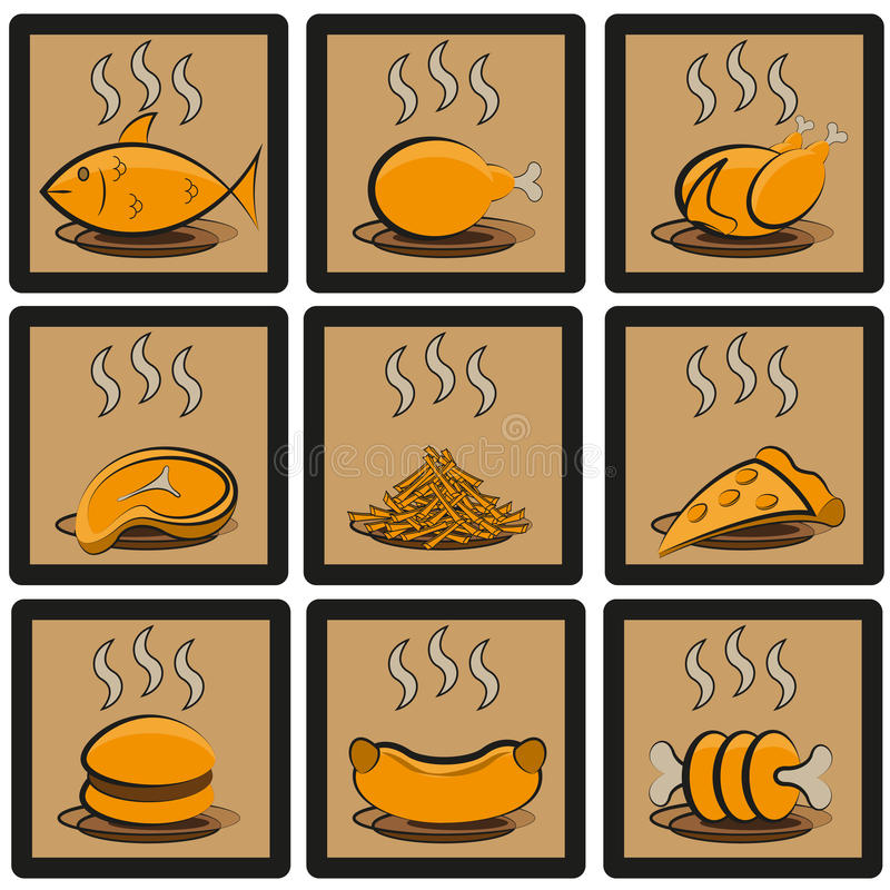 Download Meal icons set stock vector. Illustration of gastronomy - 36205684
