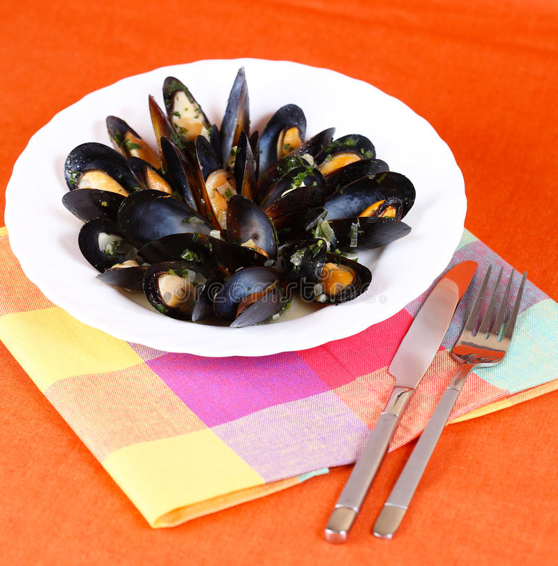Meal From Mussels Royalty Free Stock Image