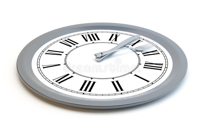 Download Meal time clock stock illustration. Illustration of black - 22980545