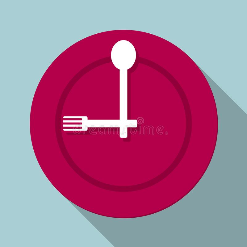 The meal time is up. Isolated on blue background vector illustration